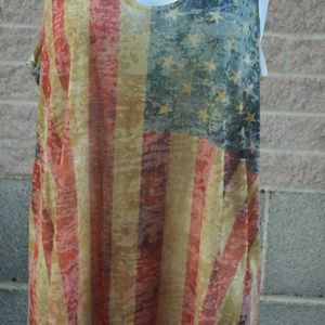 Large American flag tank top